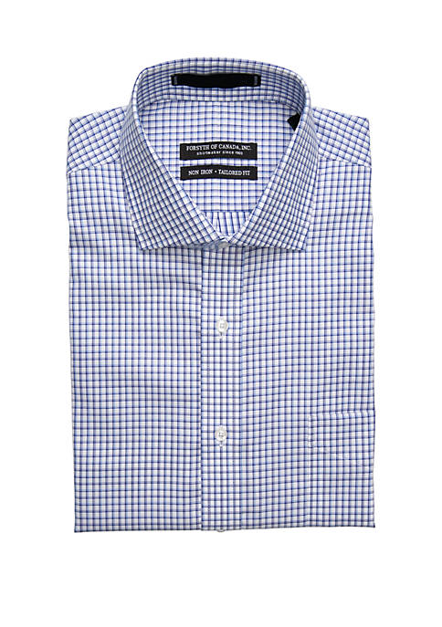 Forsyth of Canada Long Sleeve Twill Check Button