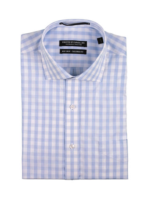 Forsyth of Canada Mens Long Sleeve Textured Check