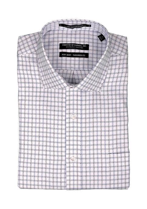 Forsyth of Canada Mens Twill Check Dress Shirt