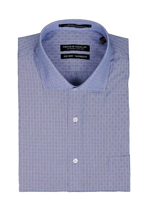 Forsyth of Canada Mens Crosshatch Check Dress Shirt