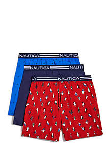 3-Pack Loose Knit Boxers