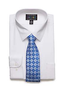 2 Piece Stretch Dress Shirt Set