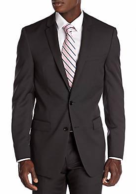 Slim Fit Black Neat Suit Separate Coat