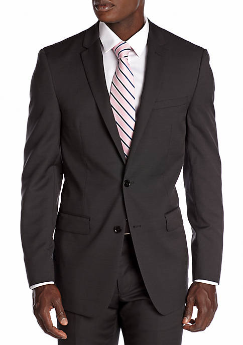 DKNY Slim Fit Black Neat Suit Separate Jacket