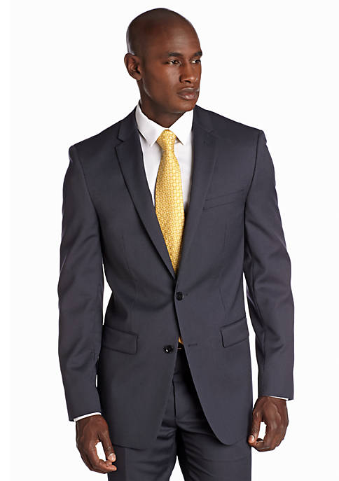DKNY Slim Fit Navy Mini Stripe Suit Separate