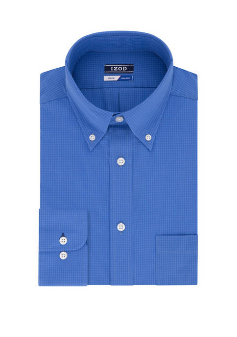 Big & Tall Gingham Stretch Shirt