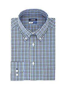 Big & Tall Gingham Long Sleeve Shirt