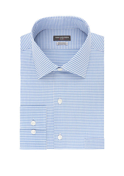 Big & Tall Dash Grid Long Sleeve Shirt
