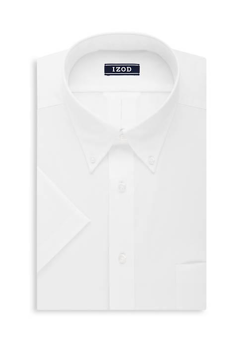 Short Sleeve Long Lasting White Dress Shirt