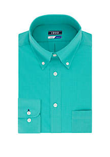 IZOD Regular Stretch Tonal Check Dress Shirt