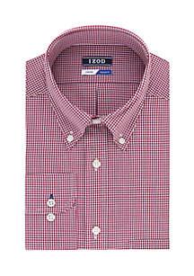 Regular Stretch Mini Check Button Down Shirt