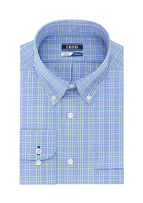 IZOD All-Over Stretch Regular Fit Dress Shirt