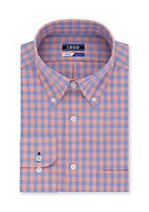 Regular Stretch Multi Line Check Dress Shirt