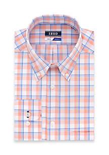 Regular Stretch Jumbo Plaid Dress Shirt