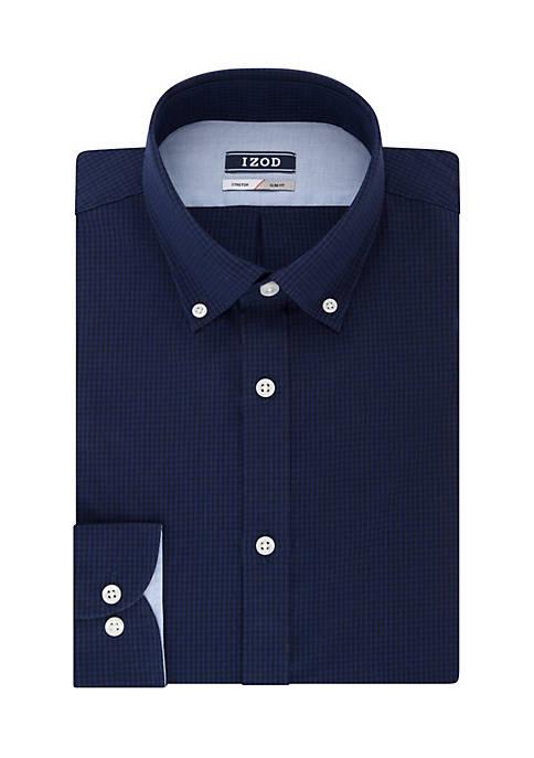 IZOD Slim Stretch Tonal Check Dress Shirt