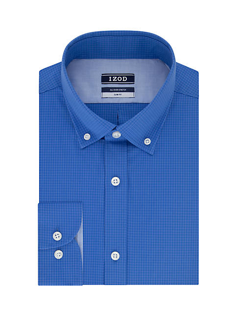 Slim Stretch Tonal Check Dress Shirt
