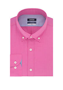 IZOD Slim Stretch Tonal Check Dress Shirt