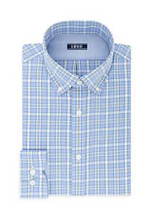 Slim Stretch Multi Plaid Dress Shirt