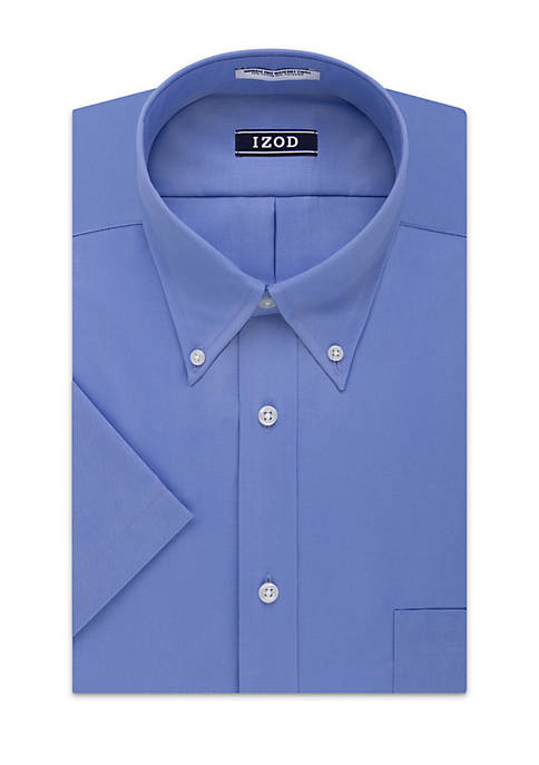 IZOD Short Sleeve Stretch Solid Dress Shirt