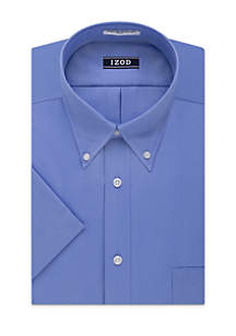 IZOD Short Sleeve Stretch Solid Dress Shirt