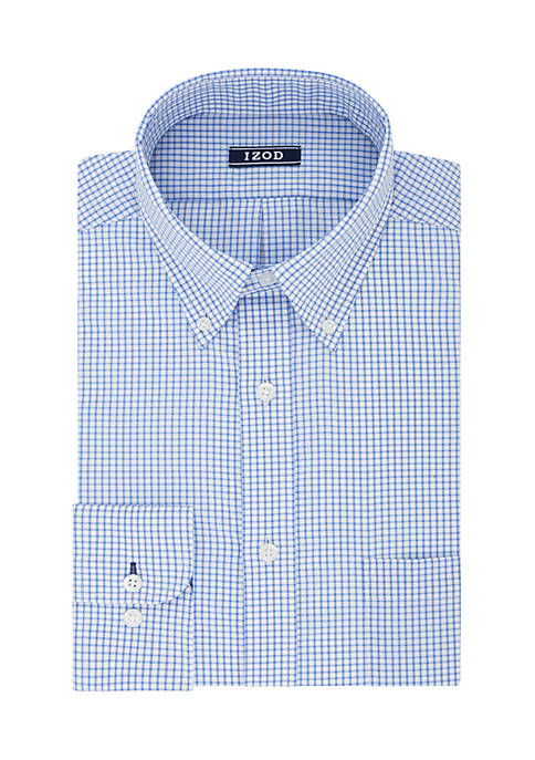 IZOD Big & Tall All-Over Checkered Print Stretch