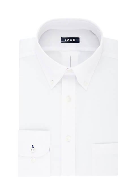 Big & Tall Stretch Solid White Shirt
