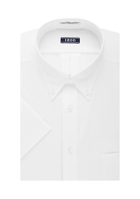 IZOD Long Lasting White Allover Stretch Regular Fit