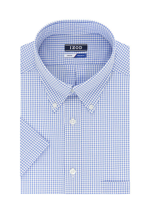 IZOD Allover Stretch Regular Fit Dress Shirt