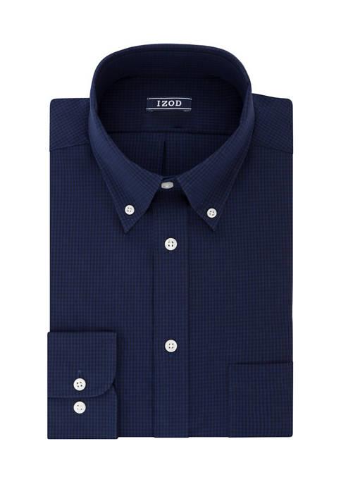 Big & Tall Stretch Gingham Print Shirt