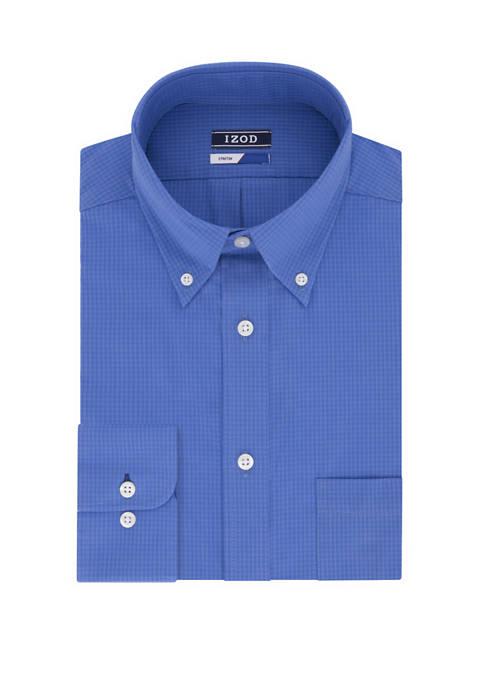 IZOD Big & Tall Stretch Gingham Print Shirt