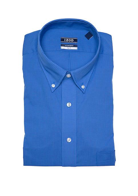 Big & Tall Gingham Stretch Shirt