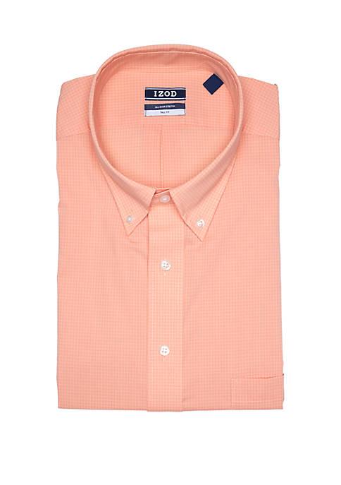 IZOD Big & Tall Gingham Stretch Shirt
