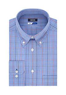 Stretch Plaid Button Down Shirt