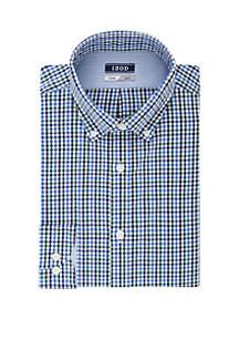 Slim Stretch Multi Gingham Button Down Dress Shirt