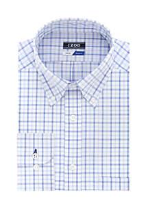 Regular Fit Stretch Plaid Button Down Dress Shirt