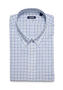Big & Tall Long Sleeve Windowpane Shirt