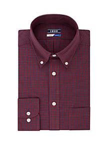 Long Sleeve Minicheck Tartan Shirt