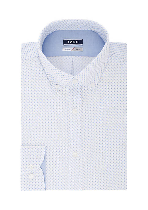 IZOD Slim Fit Stretch Ditsy Floral Button Down