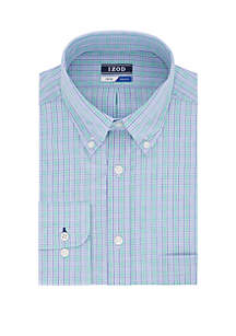 IZOD Regular Multi Check Button Down Shirt