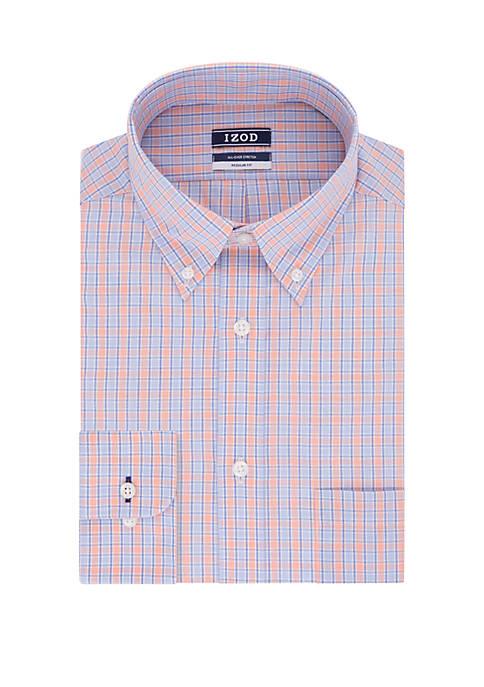 Regular Multi Check Button Down Shirt