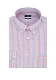 IZOD Regular Multi Check Button Down Shirt