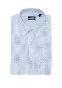 IZOD Regular Fit Multi Fish Print Button Down Shirt
