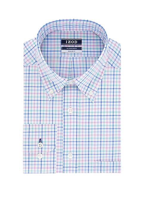 Regular Fit Multi Plaid Button Down Shirt