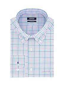 IZOD Regular Fit Multi Plaid Button Down Shirt