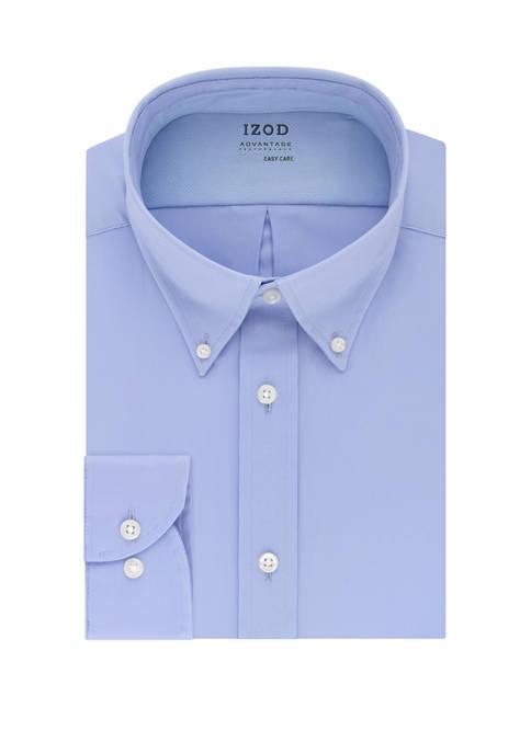 IZOD Mens Advantage CoolFX Regular Solid Dress Shirt