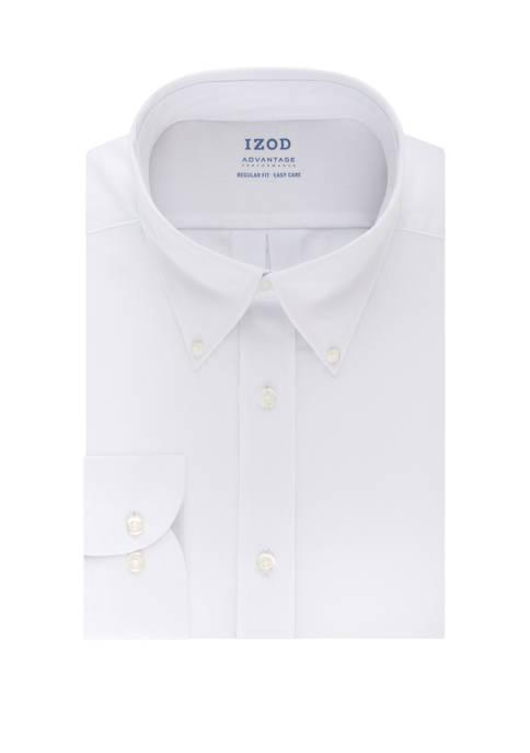 IZOD Advantage CoolFX Regular Solid Dress Shirt
