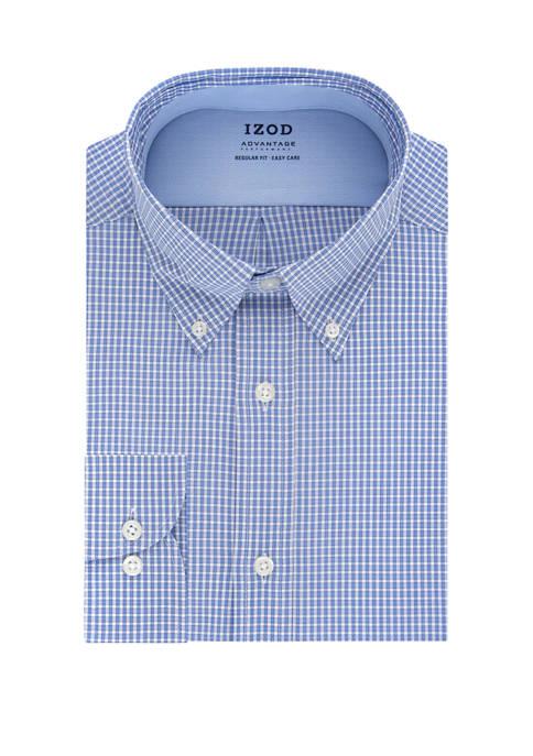 Mens Advantage CoolFX Regular Check Dress Shirt