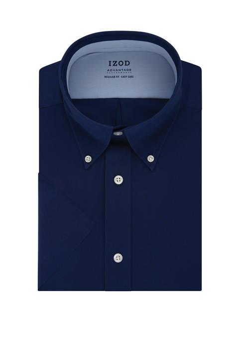 IZOD Mens Advantage CoolFX Regular Fit Solid Dress