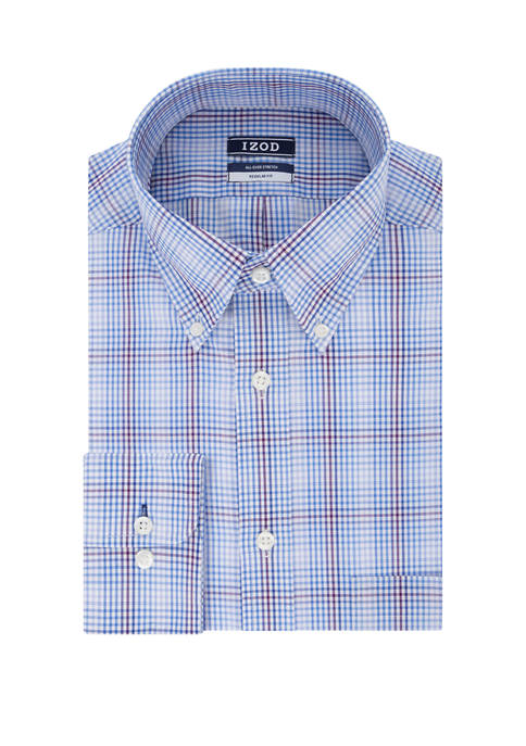 Regular Fit All Over Stretch Button Down Shirt