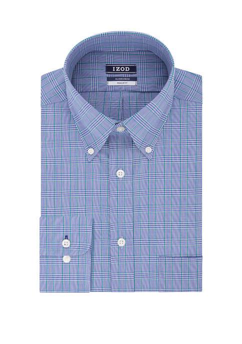 Regular Stretch Check Dress Shirt